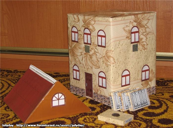 Поделки домика из коробки
