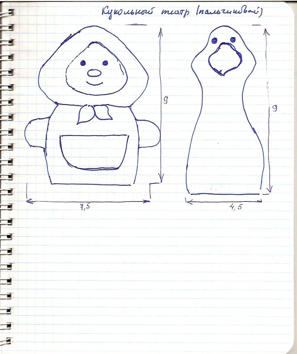 Шаблоны пальчиковых кукол из фетра своими руками 90
