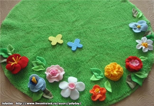 """Салфетка """"Цветочная поляна """" сделано своими руками Наталья, для дома"""