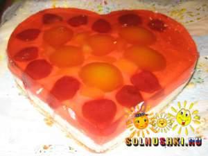 """Торт творожный """"Сердце"""""""