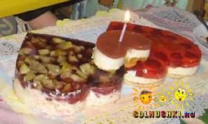 """Торт творожный """"Валентинка"""""""