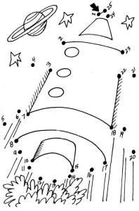 Соедини по точкам / цифрам - Ракета