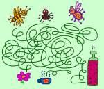 Головоломки - Лабиринты - Кто доберется до цветка?