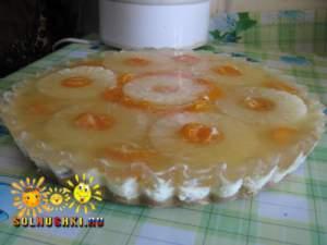 Торт творожный с печеньем